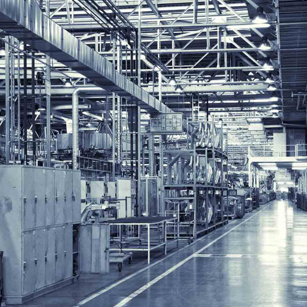 Interior of a manufacturing facility